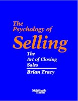 Psychology of selling   the art of closing sales   brian tracy  Personal MBA