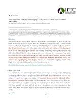 GasAssisted Gravity Drainage (GAGD) Process cho thu hồi dầu