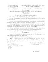 Quyết định ban hành Quy chế hoạt động của Hội đồng thi đua khen thưởng xã