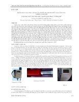 KHẢO sát các đặc TÍNH của THIẾT bị GHI đo bức xạ cầm TAY INSPECTOR 1000