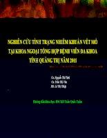 NGHIÊN CỨU TÌNH TRẠNG NHIỄM KHUẨN VẾT MỔ TẠI KHOA NGOẠI TỔNG HỢP BỆNH VIÊN ĐA KHOA TỈNH QUẢNG TRỊ NĂM 2011