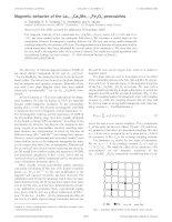 17. Magnetic behavior of the La1ÀyCayMn1ÀxFexO3 perovskites