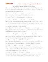 40 câu hỏi trắc nghiệm Vật lý lớp 12: Dao động cơ