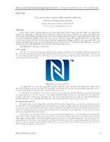 ỨNG DỤNG NFC TRONG điều KHIỂN THIẾT bị