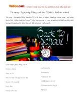 Từ vựng - Ngữ pháp Tiếng Anh lớp 7 Unit 1: Back to school