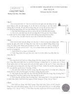 Vat li 10 hoa binh Đề thi, đáp án (đề xuất) trại hè hùng vương