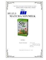 phát triển sản phẩm matcha soymilk