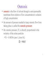 bài giảng vật lý bằng tiếng anh osmosis