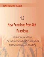 bài giảng vật lý bằng tiếng anh  new functions from old functions
