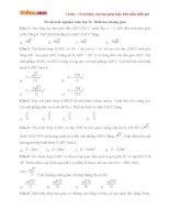 50 câu trắc nghiệm Toán lớp 12: Hình học không gian