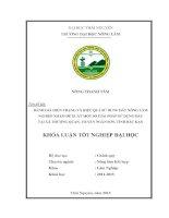 Đánh giá hiện trạng và hiệu quả sử dụng đất nông lâm nghiệp nhằm đề xuất một số giải pháp sử dụng đất tại xã thượng quan   huyện ngân sơn   tỉnh bắc kạn