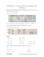 Giải bài tập trang 24 SGK Toán 4: Bảng đơn vị đo khối lượng