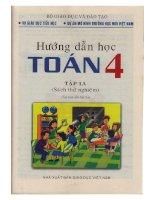 Sách thử nghiệm  toan lớp 4 tập 1a