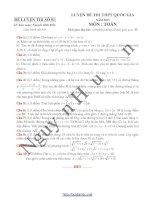 Phân tích kỹ thuật giải đề toán thpt quốc gia 2015