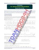 Bài 1  các dạng phương trình thường gặp