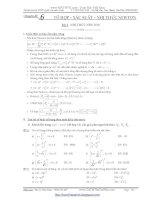 Chuyên đề 6 tổ hợp xác suất nhị thức niuton