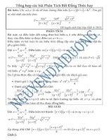 Tổng hợp các bài toán phân tich bất đẳng thức hay