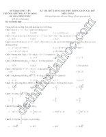 đề thi thử trắc nghiệm toán 12