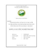 Đánh giá công tác quản lý nhà nước về môi trường tại thành phố thái nguyên   tỉnh thái nguyên giai đoạn 2012 2014