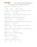 100 câu trắc nghiệm toán lớp 12: Ôn tập kiểm tra giữa học kỳ I