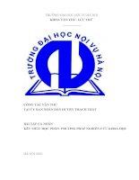 Công tác văn thư tại uỷ ban nhân dân huyện thạch thất