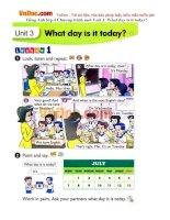 Tiếng Anh lớp 4 Chương trình mới Unit 3: What day is it today?