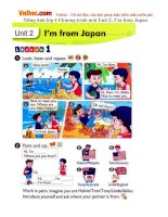 Tiếng Anh lớp 4 Chương trình mới Unit 2: I'm from Japan