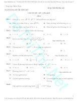 300 câu trắc nghiệm toán mũ – logarit có đáp án (p1)