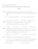 800 câu hỏi và bài tập Trắc nghiệm Phương pháp tọa độ trong không gian Oxyz (có đáp án)
