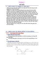 Bài giảng Động lực học công trình Chương 1