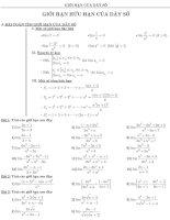 Tổng hợp bài tập giới hạn dãy số