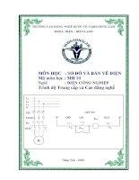 Bài giảng sơ đồ và bản vẽ điện nghề điện công nghiệp