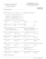 đề kiểm tra 1 tiết giải tích 12 chương I