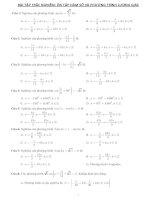 Bài tập trắc nghiệm hàm số phương trình lượng giác