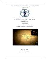 Bài giảng vẽ kỹ thuật cơ khí nghề hàn