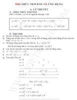 Nhị thức newton và ứng dụng tổng hợp