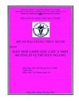 Hồ sơ giáo án thực hành nghề hàn dự thi cấp tỉnh hội giảng