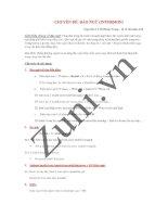 Chuyên đề đảo ngữ trong tiếng Anh