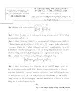 Toan 10_Thai Binh.Đề thi (đề xuất) kỳ thi HSG các trường THPT Chuyên khu vực DH&ĐBBB lần thứ VIII, năm 2015