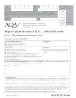 AQA PHY3T p13 TEST JUN13