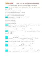Bài tập trắc nghiệm giá trị lớn nhất, nhỏ nhất của hàm số (Có đáp án)