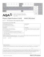 AQA PHY3T p14 TEST JUN14