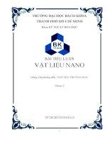 Bài tiểu luận vật liệu nano