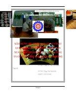 ĐỒ ÁN TỐT NGHIỆP  XÂY DỰNG HỆ THỐNG QUẢN LÝ CHẤT LƯỢNG HACCP CHO QUY TRÌNH SẢN XUẤT MỰC SUSHI HALFCUT TẠI CÔNG TY CỔ PHẦN THUỶ HẢI SẢN BÌNH ĐÔNG