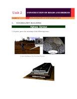 Bài giảng Tiếng Anh Chuyên ngành giao thông Đại học Công Nghệ GTVT (UTT)Unit 2part 1