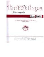 Tạp chí triết học số 11 (138) tháng 11   2002