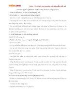 Giải bài tập trang 90 SGK Sinh học lớp 11: Cân bằng nội môi