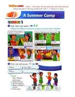 Tiếng Anh lớp 5 Chương trình mới Unit 1: A Summer Camp