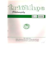 Tạp chí triết học số 2 (120), tháng 4   2001