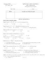 10 Đề kiểm tra trắc nghiệm Chương 1 Giải tích 12 (7 điểm trắc nghiệm, 3 điểm tự luận) file WORD
